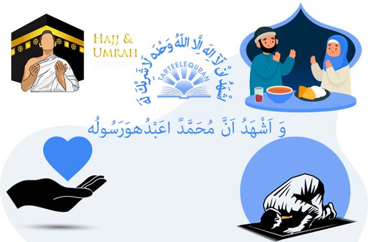 5 Pillars of Islam Shahadah Salah Zakah Siyam and Hajj  TarteeleQuran
