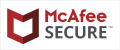 Our Content and Website is Secure by McAFee